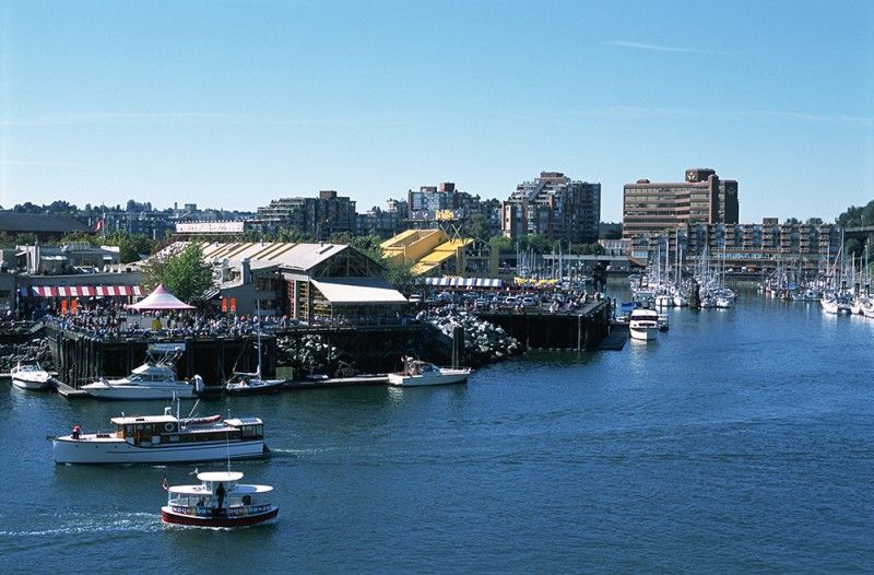 Granville Island in False Creek, credit Destination BC/Albert Normandin