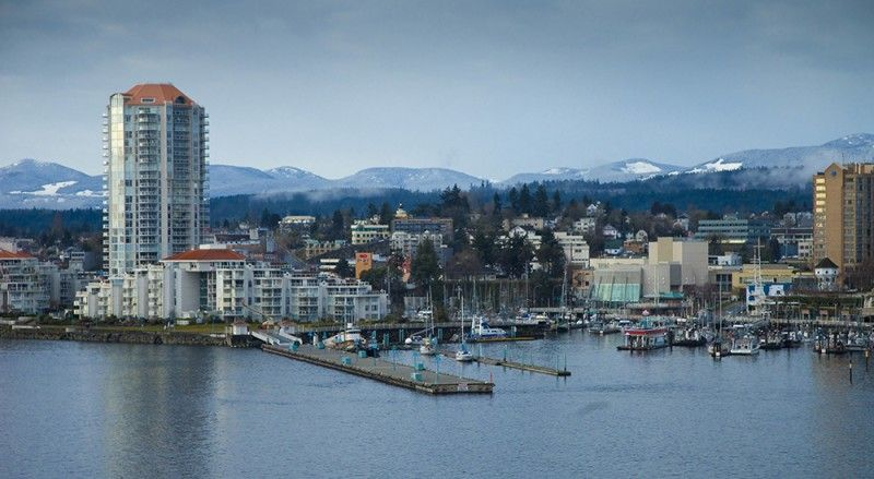 Winter at Nanaimo Harbour, credit Ted Kuzemski