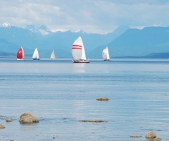 Sailing near Campbell River, credit Deanna Collins