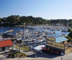Gibsons Landing, home of the Beachcombers, credit Sunshine Coast Tourism
