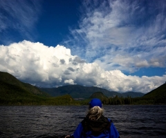 Clouds over Muchalat Lake in Gold River - credit David Wei
