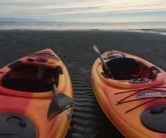 Kayaking at Stories Beach - credit Carmen Zmaeff