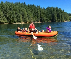 Kids at McIvor Lake - credit Iris Rayburn
