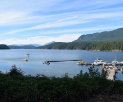 Powell River Okeover Arm from Laughing Oyster