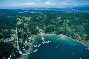 Aerial view of Quadra Island, credit: Destination BC/Tom Ryan