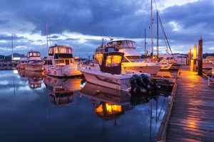 Nightfall at Port McNeill Municipal Dock, credit Boomer Jerritt