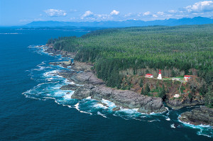 Vancouver Island's rugged west coast, credit Destination BC
