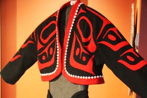 Work of Haida designer Dorothy Grant at Haida Heritage Centre, credit Aboriginal Tourism BC