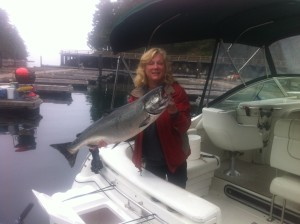 Spring Salmon, credit Telegraph Cove Marina and Resort