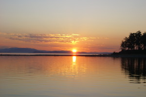sunset from Sidney Spit