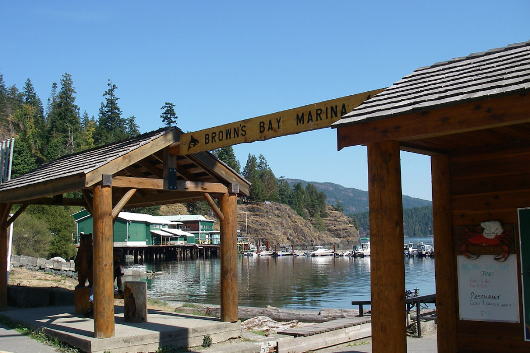 Browns Bay Marina Resort RV Park British Columbia coast