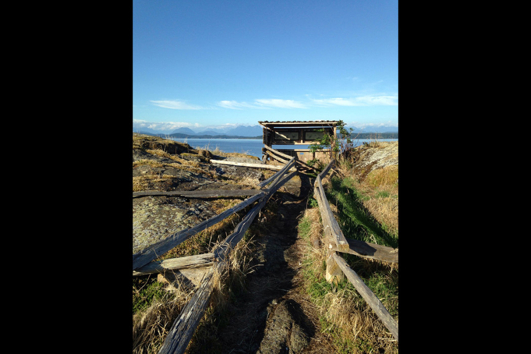 Mittlenatch Island Bird Blind British Columbia coast