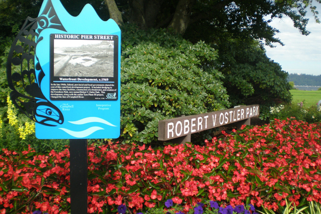 Heritage signs around downtown Campbell River
