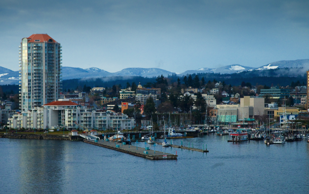 Nanaimo winter waterfront