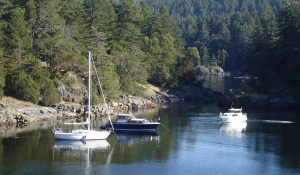 BC anchorages Sunshine Coast